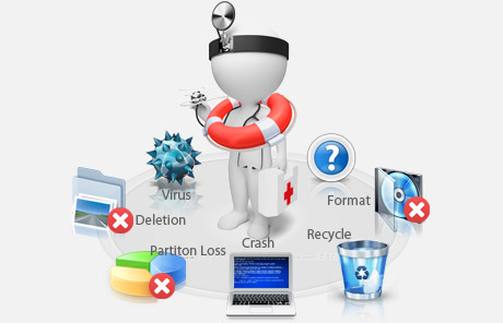 EaseUS hard drive data recovery tool helps to recover data from multiple situations.