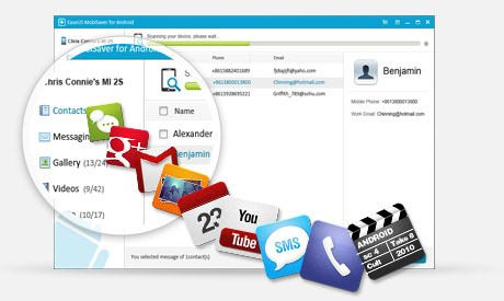 Free Android data recovery software - EaseUS MobiSaver for Android Free supports to restore diverse files.