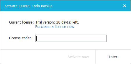 easeus todo backup activation step 1